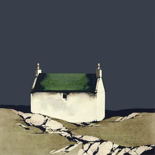 Barra Cottage Dark Sky Framed Price £195.00