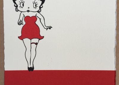 Betty Boop wears a garter