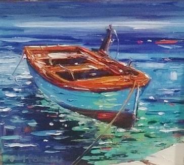 Jean Feeney Boat Framed Price £395