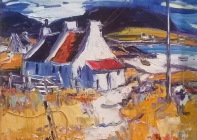 Jean Feeney Summer Day on Islay Framed Price £750
