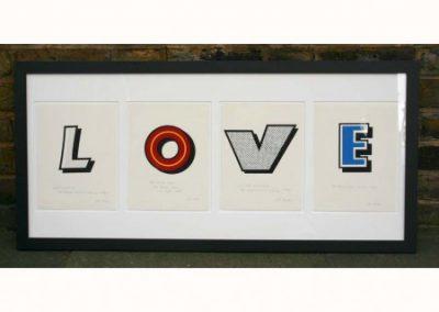 LOVE in Beano lettering