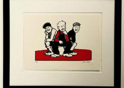 Oor Wullie, Fat Bob and Soapy Joe framed £90