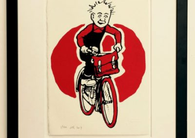 Oor Wullie cycling framed £90