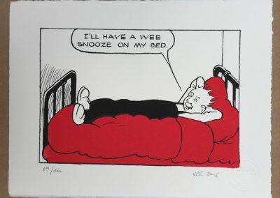 Oor Wullie has a snooze framed £90