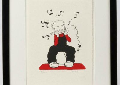 Oor Wullie plays his mouth organ framed £90