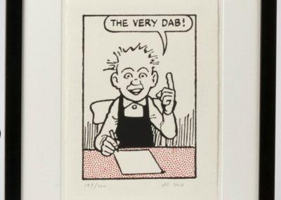 Oor Wullie says The very dab! framed £90