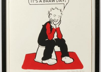 Oor Wullie says it's a braw day framed £90