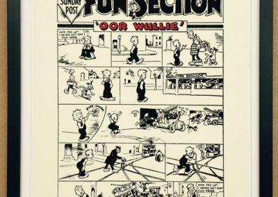 Oor Wullie's first strip, 1936 framed £195