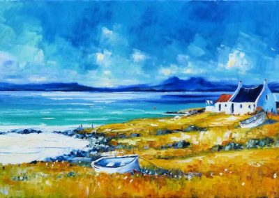 Summer clouds over Rhum and Eigg Framed price £1600