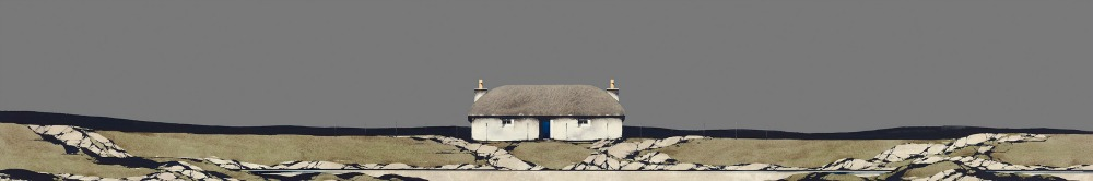 Uist Thatched Cottage Framed Price £350.00
