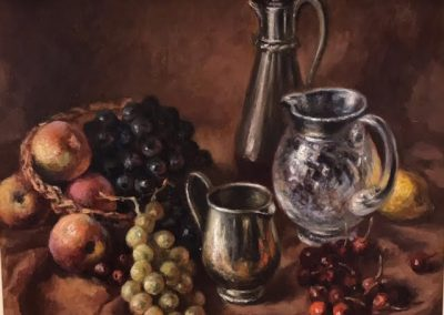 Alan Sutherland Fruit & Jugs Framed Price £950 (Original Oil Painting)