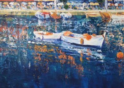 C Thompson Sunlit Reflections Framed Price £870 (Original Oil Painting)