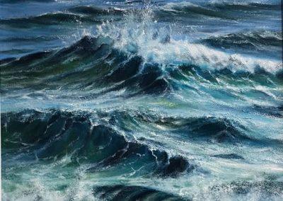 David Gayda Choppy Waters Framed Price £240 (Original Oil)