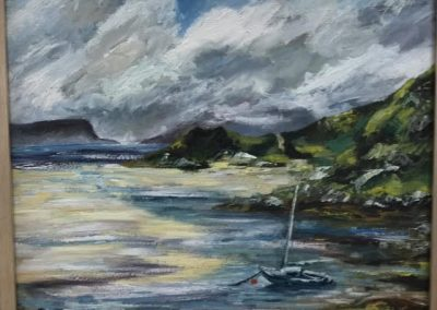 Maureen Mailey White Sands Morar Framed Price £375 (Original Oil Painting)